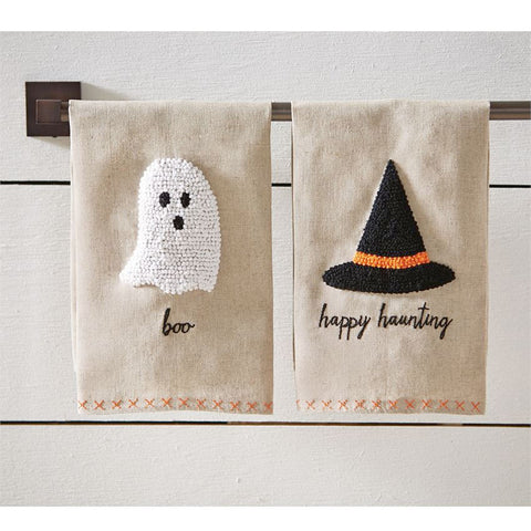 Halloween French Knot Linen Towels
