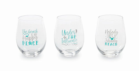 Beach House Stemless Glass