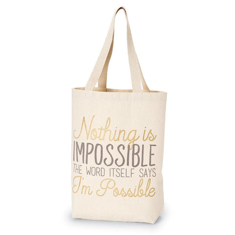 Pazitive Canvas Tote With Inspirational Messages