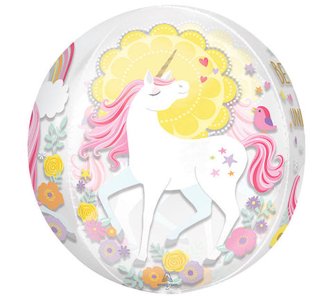 "16"" Orbz Magical Unicorn Balloon"