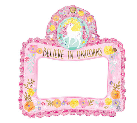 "27"" Selfie Frame Magical Unicorn Balloon"