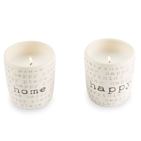 Happy Home Ceramic Filled Candle