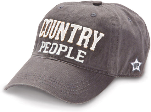Country People Adjustable Hat Dark Grey
