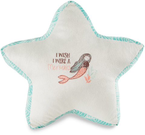 I Wish I Were A Mermaid Star Pillow