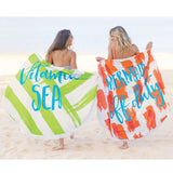 Lifes a Beach Circle Towels Assorted