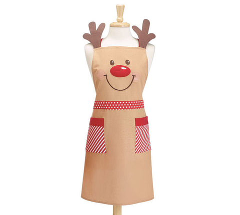 Adult Apron Rudolph With Pockets