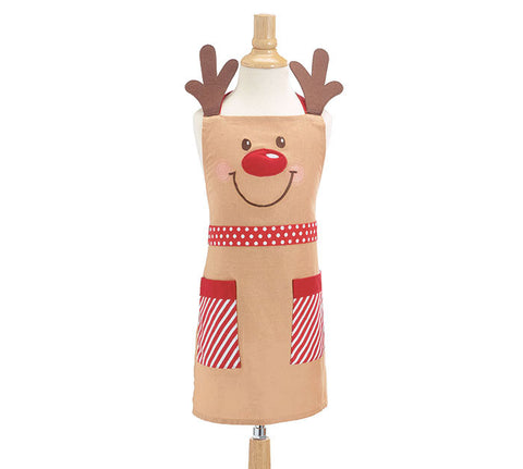 Apron Child Rudolph With Pockets