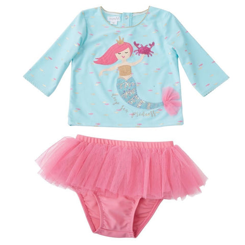 Mermaid Rash Guard Bathing Suit Set