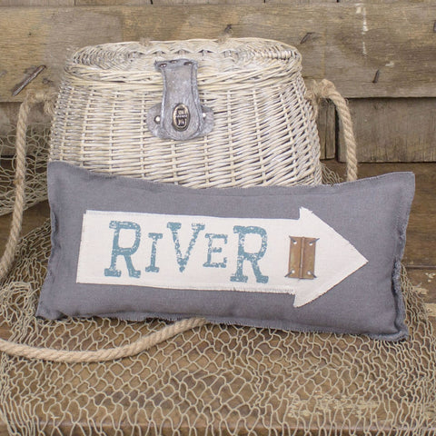 River Arrow Pillow