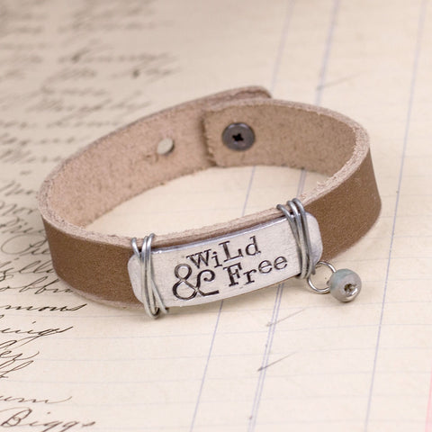 Wild And Free Leather Bracelet