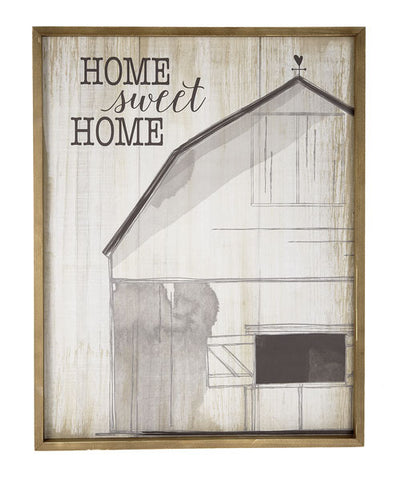 Large Print Framed Home Sweet Home