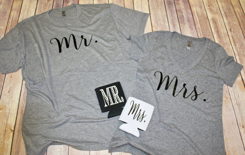 Mr & Mrs T-shirt Set