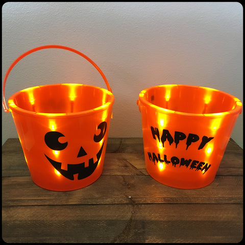 Light Up Halloween Bucket