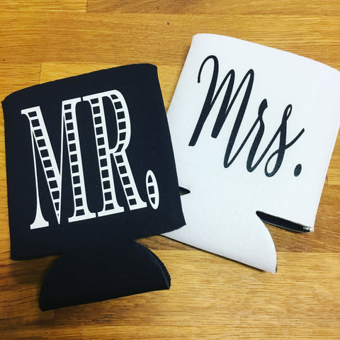 Mr. & Mrs. Koozie Set