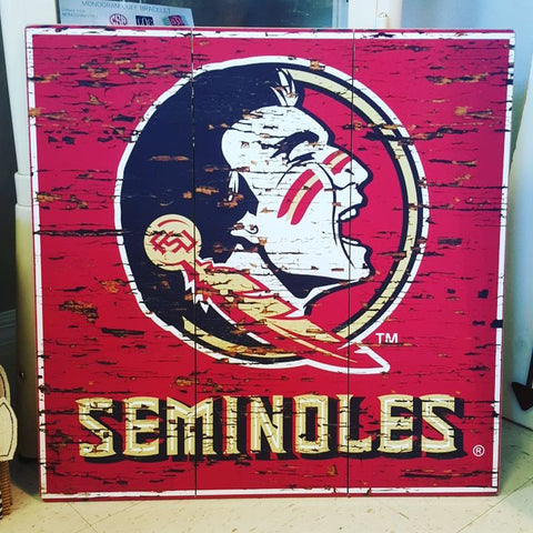 Florida State Distressed Wood Sign
