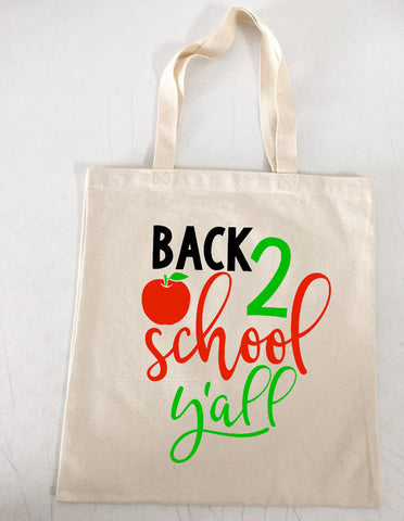 Back 2 School Y'all Tote Bag
