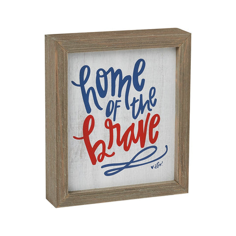 Home of the Brave Barn Box Sign