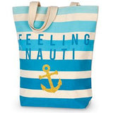 Feeling Nauti Beach Canvas Tote Bag