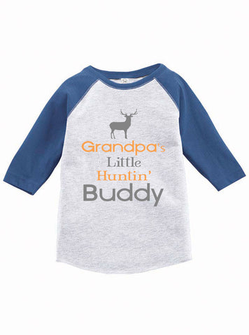 Grandpa's Little Hunting Buddy Raglan