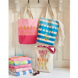 Girls Just Wanna Have Sun Beach Canvas Tote Bag