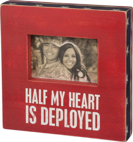 Half of my Heart is Deployed Box Frame