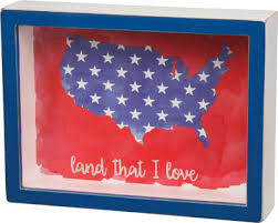 Land I Love Box Sign