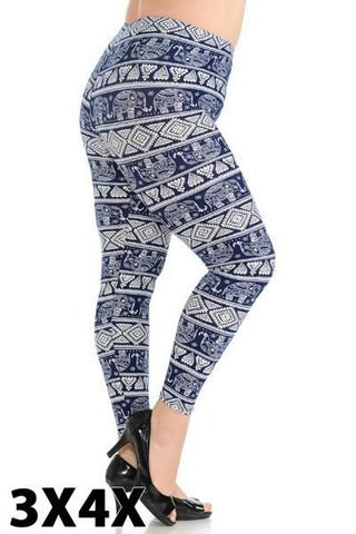 """Let's Get Trunk!"" Legging - 3X/4X"