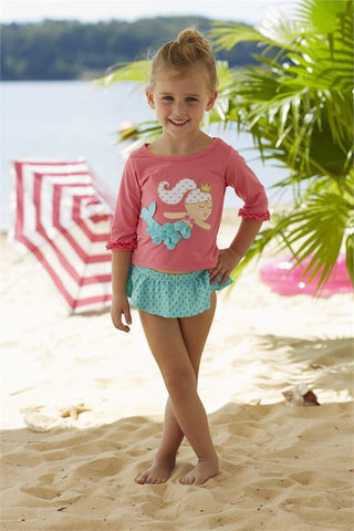 Mermaid Rash Guard & Bikini Set