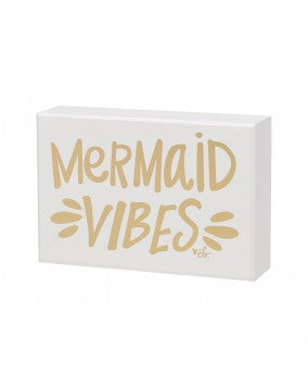 Mermaid Vibes Box Sign