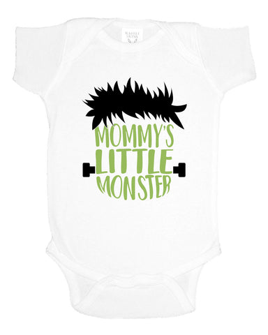 Mommy's Little Monster One-Piece Crawler + Tee Options