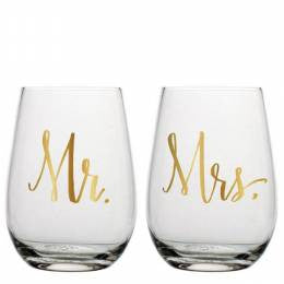 Mr & Mrs Glass Set