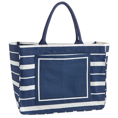 Navy Stripe Day Tripper Tote
