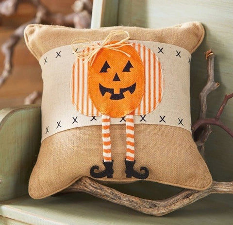 Pumpkin Dangle Leg Pillow Wrap