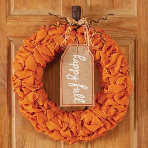 Happy Fall Pumpkin Wreath