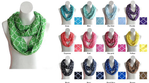 Quatrefoil Scarf in multiple colors!