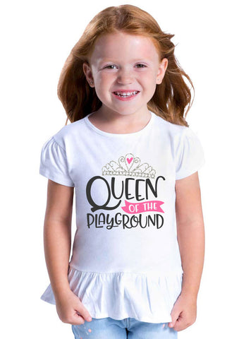 Queen of the Playground Toddler Ruffle Shirt