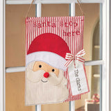 Santa Tag Door Flag