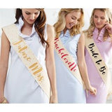 Bridal Wedding Sashes for the Future Mrs, Bachelorette and Bride to Be