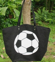 Soccer Canvas Tote Bag