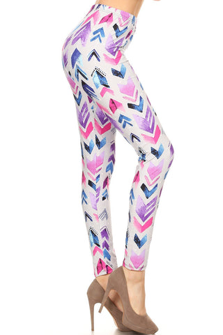 """Water Color Chevron"" Legging"