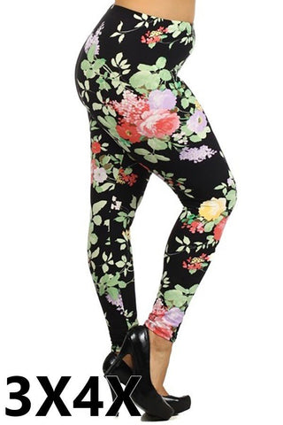 """What In Carnation?!"" Legging - 3X/4X"