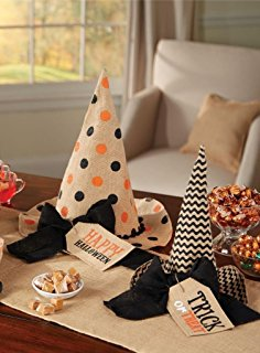 Burlap Witches Hat Set