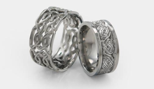 Celebrate St Patrick's Day with Celtic Inspired Titanium Rings