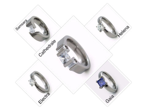 Womens Engagement Rings - Titanium