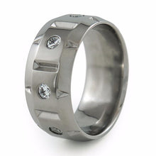 Galactic titanium ring with gemstones and diamonds mens or ladies