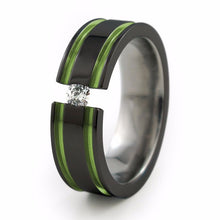 Abyss - Black-Tension - Anodizing-Option-Titanium Rings