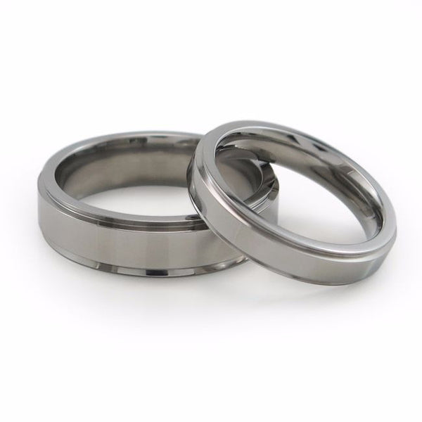 Unisex titanium ring. Unisex titanium wedding band.  Mens & ladies classic titanium ring with comfort fit.