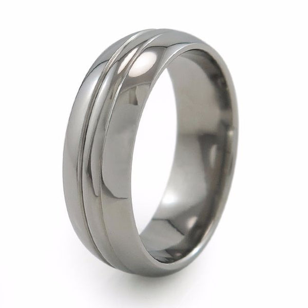 Traditional dome profile wedding titanium wedding band /Titanium Ring
