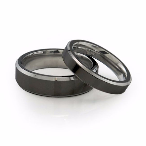 Two toned titanium band with comfort fit