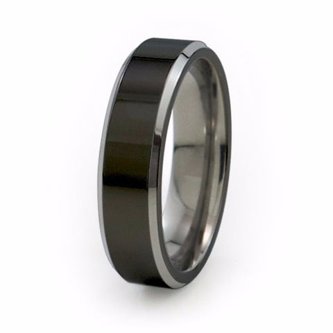 Apex | Two-Tone Titanium Ring